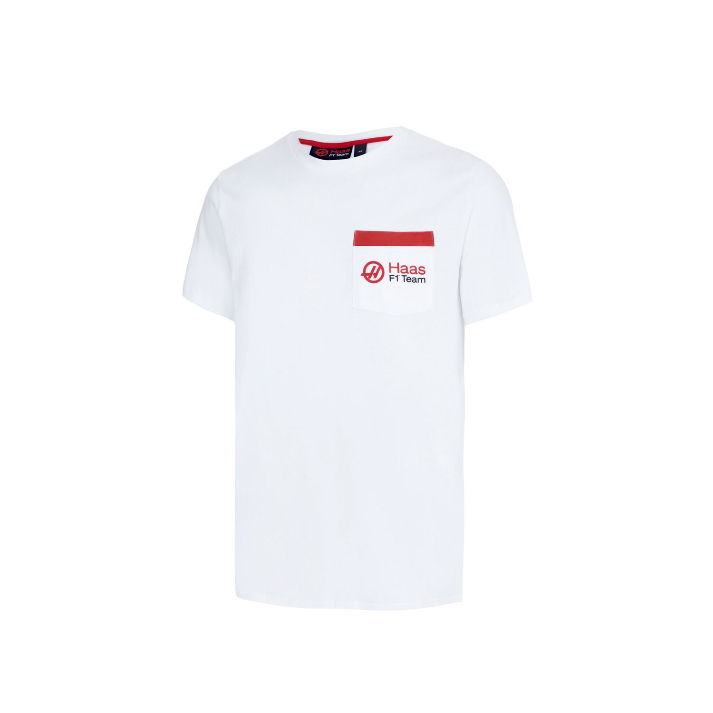 Herren Pocket T-Shirt weiß Haas F1 Team FAN   Bekleidungsartikel   T ... 44b2b386af