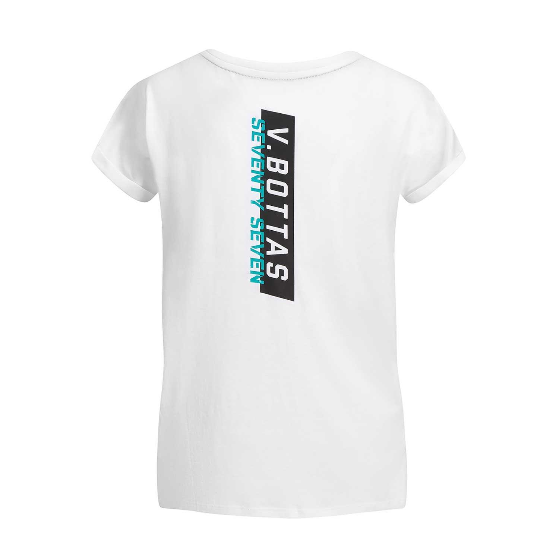 f3836d65d9952c Mercedes AMG Petronas Motorsport F1 2019 Damen T-Shirt Bottas 77 Weiß ...