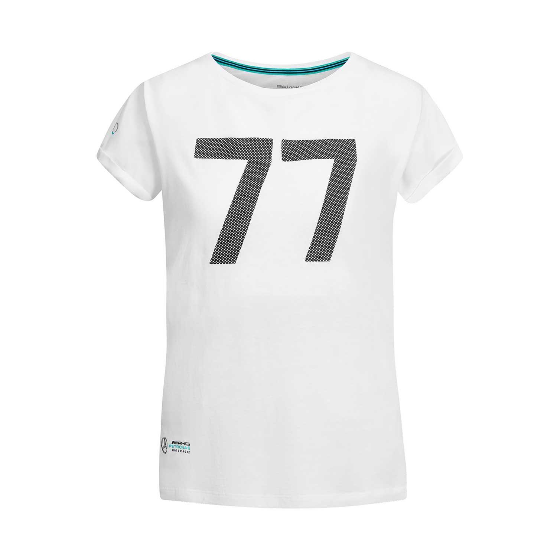 ef1ea210207401 ... Mercedes AMG Petronas Motorsport F1 2019 Damen T-Shirt Bottas 77 Weiß