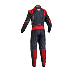 OMP Rennoverall ONE S-1 schwarz/rot (Homologation FIA)